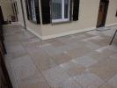 Terrassensanierung Granitplatten auf Stelzlager